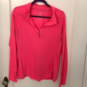 Hot pink exercise shirt